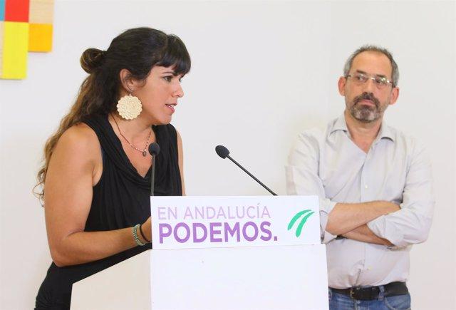 Teresa Rodríguez y Joaquín Urías