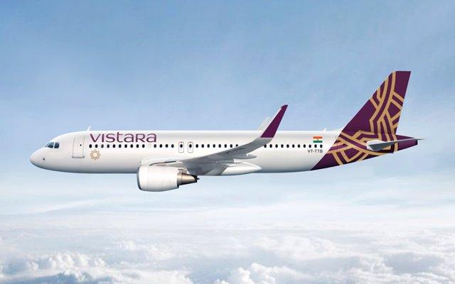 Avión de la aerolínea Vistara