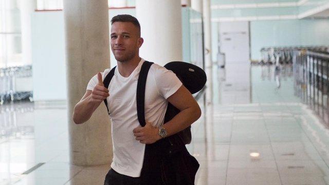 Arthur a su llegada a Barcelona