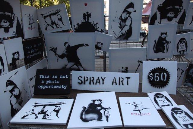 Obras de Banksy a la venta en Nueva York