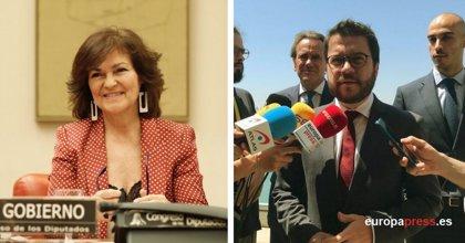 Aragonès se reúne este jueves con Calvo y Montero para reclamar deudas pendientes con Catalunya