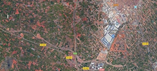Carretera CV-222 a su paso por Vila-real