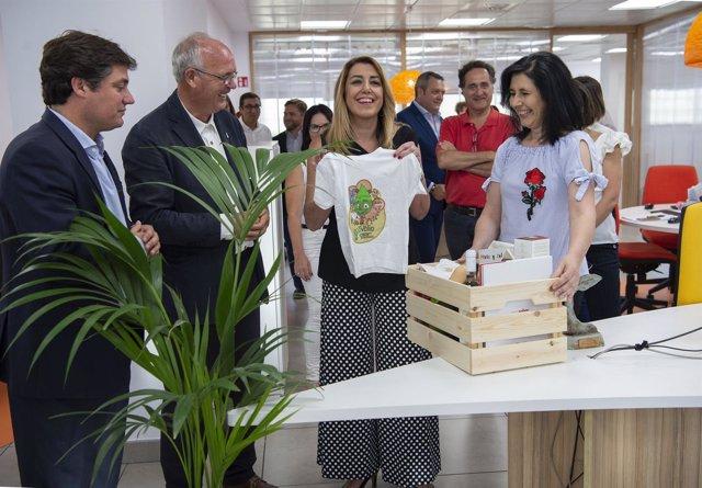 Susana Díaz, durante su visita a Ecovalia