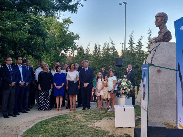 Soraya Sáenz de Santamaría en un acto homenaje a Miguel Ángel Blanco en Madrid
