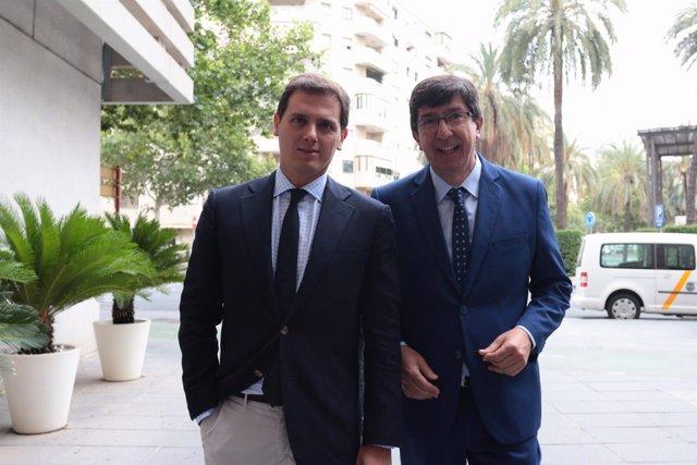 Albert Rivera y Juan Marín, en Sevilla