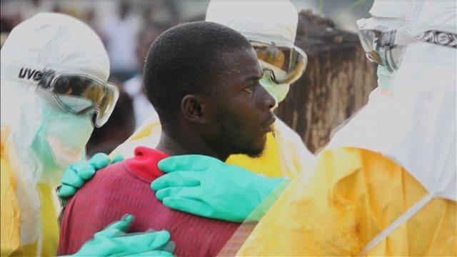 Enfermo de ébola en Monrovia
