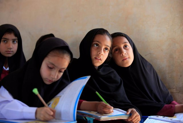 Niñas en una escuela en el valle de Swat, región natal de Malala