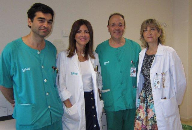 Los médicos responsables de este servicio de Urología del Servet