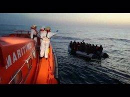 Operación de rescate de inmigrantes en Mar de Alborán
