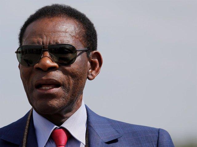 Teodoro Obiang, presidente y jefe de Estado de la República de Guinea Ecuatorial