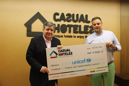 Casual Hoteles recauda 5.700 euros para UNICEF en un año