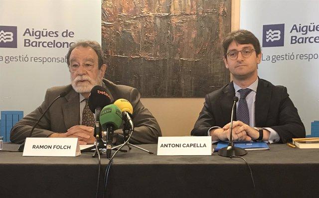 Ramon Folch (Aigües de Barcelona) y Antoni Capella (EY)