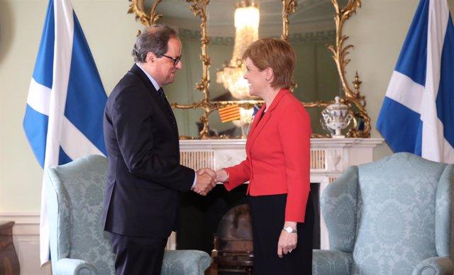 Quim Torra y Nicola Sturgeon
