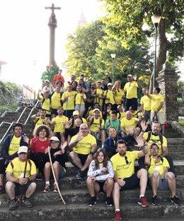 Voluntarios de OHL acompañan a jóvenes de Down Madrid enel Camino de Santiago