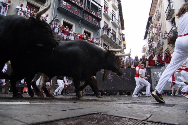 Sexto encierro de Sanfermines 2018 con toros de Victorino del Río.