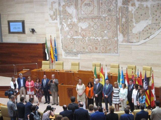 La reunión de la Coprepa en la Asamblea de Extremadura