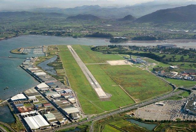 Vista aérea del aeropuerto