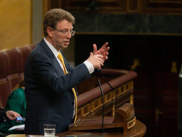 El portavoz de Presupuestos de PDeCAT, Ferrán Bel, en el Congreso