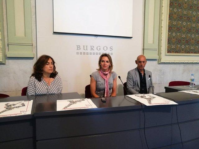 Burgos.- Blanca Álvarez, Lorena de la Fuente y Alberto Estébanez