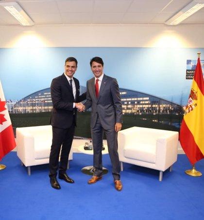 Sánchez y Trudeau quieren impulsar una agenda común en igualdad de género y cambio climático