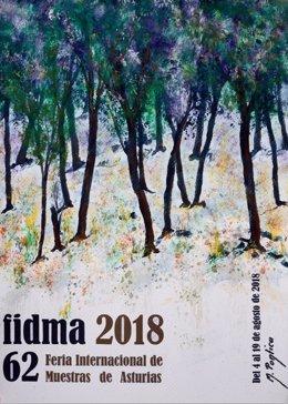 Cartel Fidma 2018, feria de muestras de Gijón
