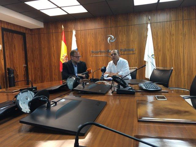 Rueda de prensa en la Autoridad Portuaria de Las Palmas