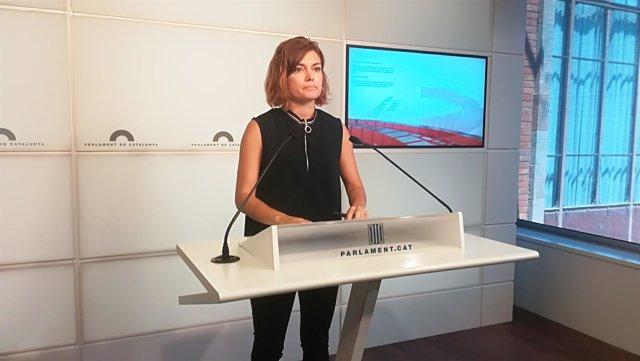 La portavoz de los comuns en el Parlament Elisenda Alamany