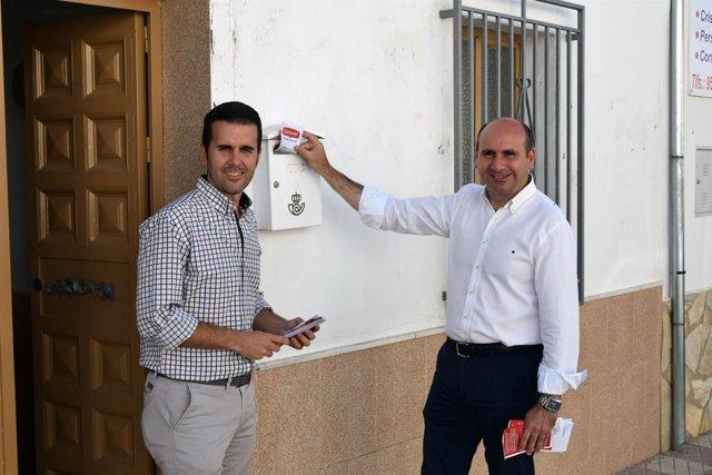 Francisco Conejo portavoz diputación málaga con candidato Antequera Calderón