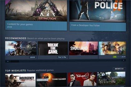 Steam mostrará los próximos lanzamientos según el interés previo que susciten entre los jugadores