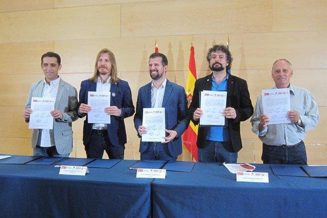 Sindicatos y fuerzas de izquierdas firman el pacto fiscal 12/7/2018