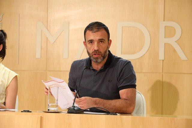 Nacho Murgui en rueda de prensa posterior a la Junta de Gobierno
