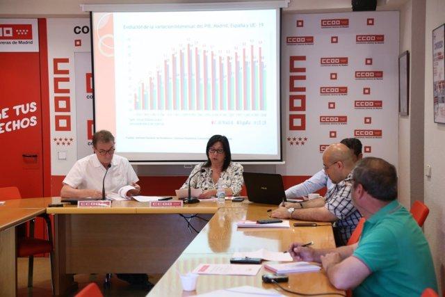 El secretario general de CCOO Madrid; Jaime Cedrún