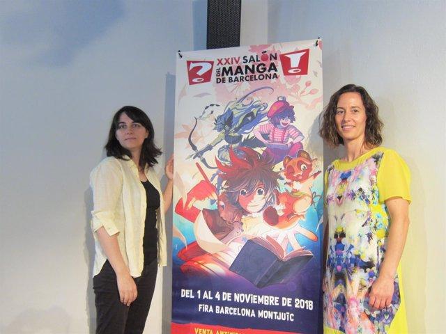 La Directora General Del Ficomic, M. Puig, Junto A La Dibujante Mar Salmons