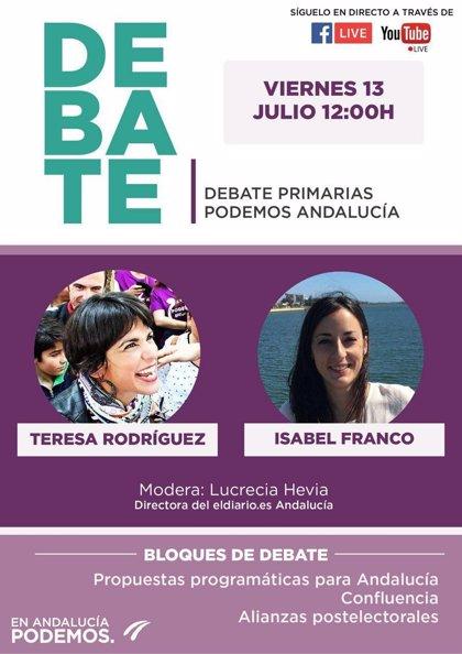 Debate entre Teresa Rodríguez e Isabel Franco en las primarias en Podemos