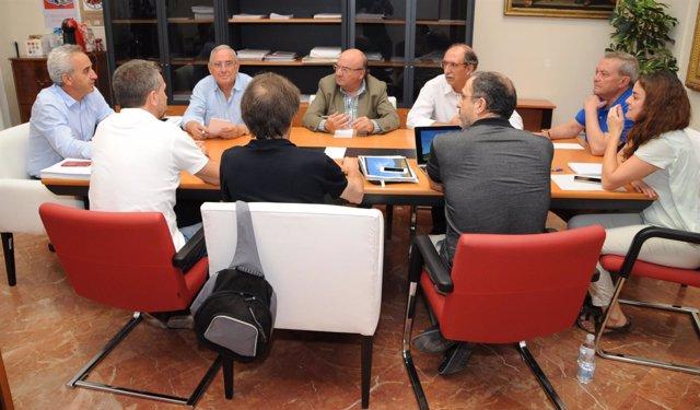 Representantes de Diputación, Junta y Amigos de Medina Azahara