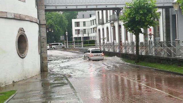Las Caldas inundada
