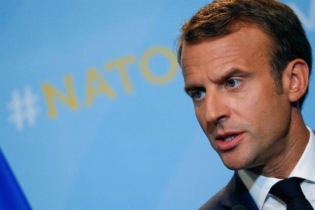 Emmanuel Macron en la cumbre de la OTAN
