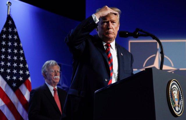 Donald Trump en la cumbre de la OTAN