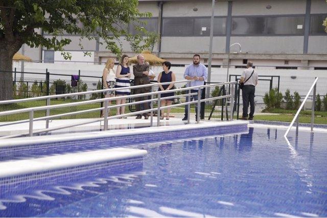 Así luce la piscina de Almadén