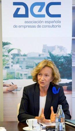 Elena Salgado, presidenta de AEC