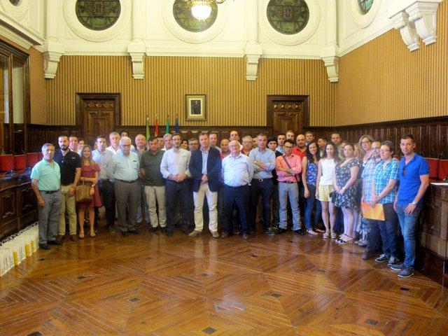 Recepción de empresarios del Degusta Jaén