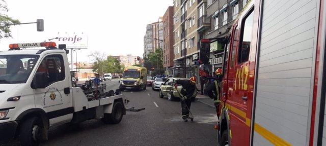Valladolid.- Lugar del accidente
