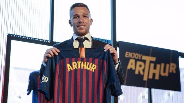 El jugador del FC Barcelona Arthur Melo