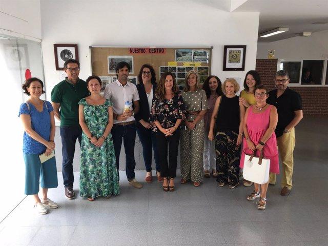 Remedios Palma en el IES Cornelio Balbo de Cádiz