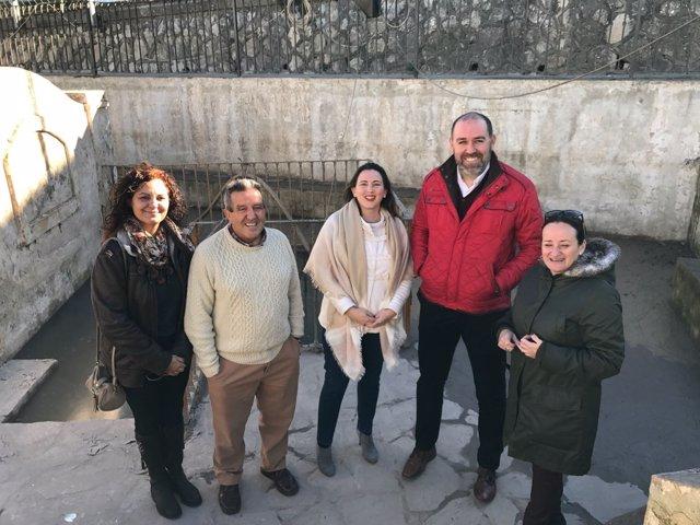 Visita de Diputación a la fuente de Algar