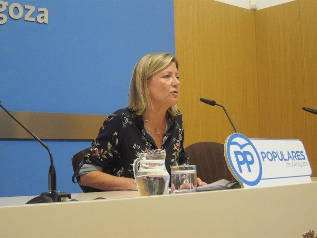 La concejal del PP en el Ayuntamiento de Zaragoza, Patricia Cavero