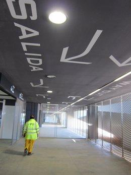 Terminal de llegadas del aeropuerto de Corvera