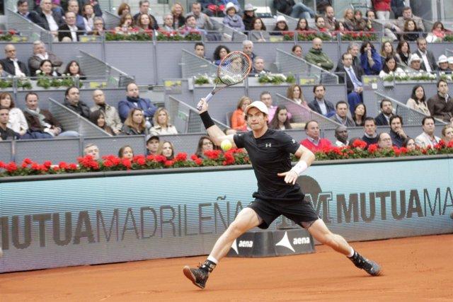 Andy Murray en la final del Mutua Madrid Open de Tenis