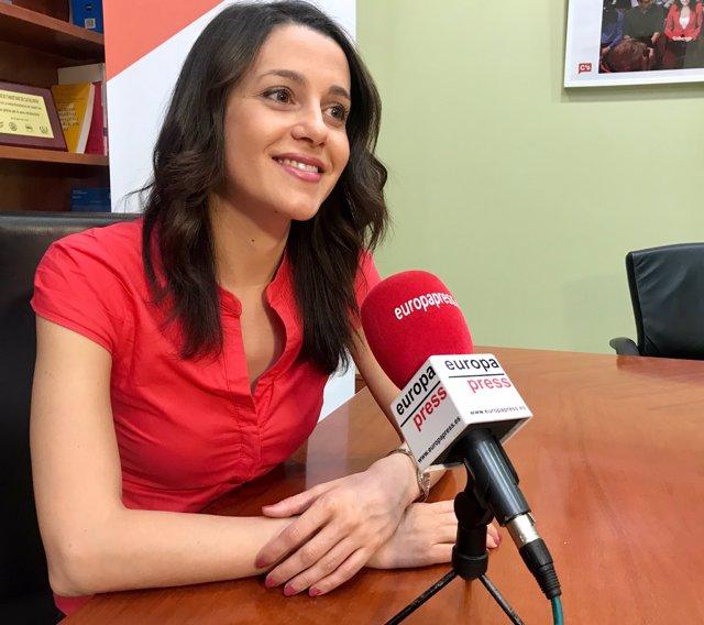 La líder de Cs a Catalunya,  Inés Arrimadas