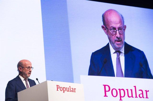 El presidente de Popular, Emilio Saracho